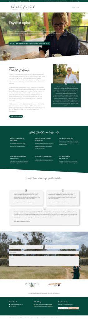 web design Toowoomba psychologist websites
