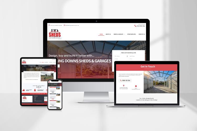 Mockup of tradies websites Toowoomba