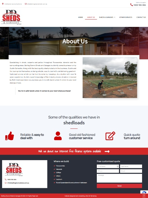 About us page of Toowoomba websites