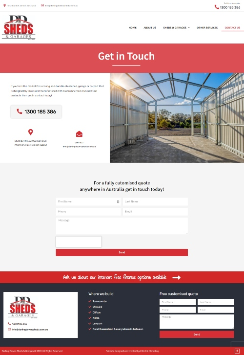 Contact page of Toowoomba websites